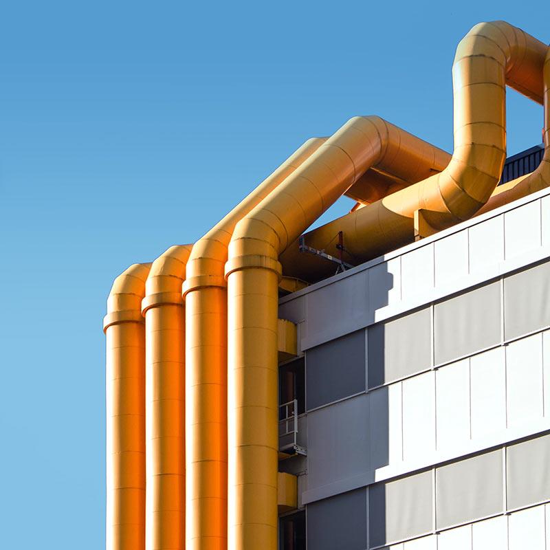 Exterior Orange Pipes